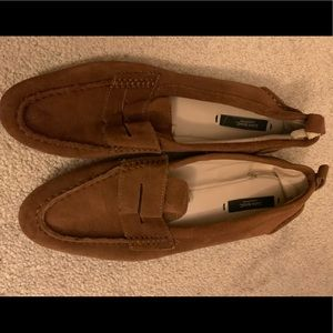 Zara brown suede loafers!